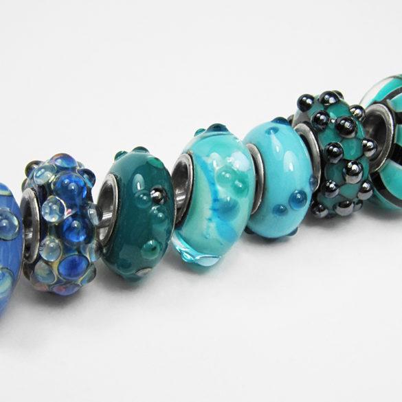 wechsel dich glücklich | Perlen in Türkistönen